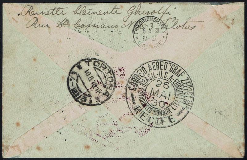 """nach - Südamerikafahrt 1930 (Rundfahrt-) Post nach Friedrichshafen"""" - Seite 6 59_c_p13"""