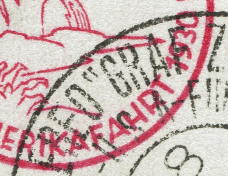 """Südamerikafahrt 1930 (Rundfahrt-) Post nach Friedrichshafen"""" - Seite 6 Aussch10"""