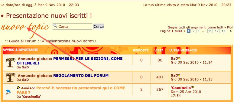 Come funziona il Forum? Scherm12
