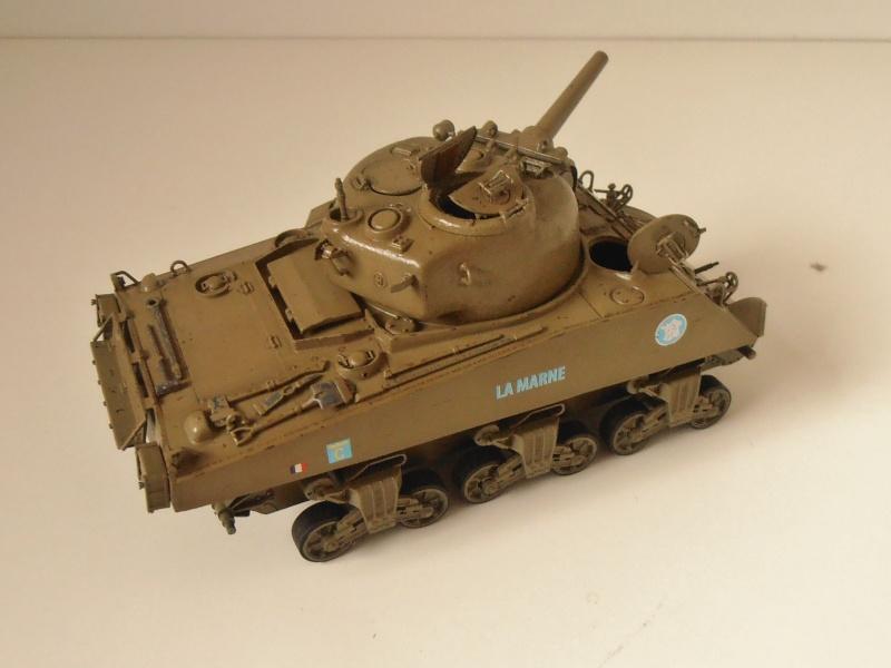 "Sherman M4 105mm "" La Marne "" ( Tamiya et conversion ? au 1/35eme ) Pb260811"