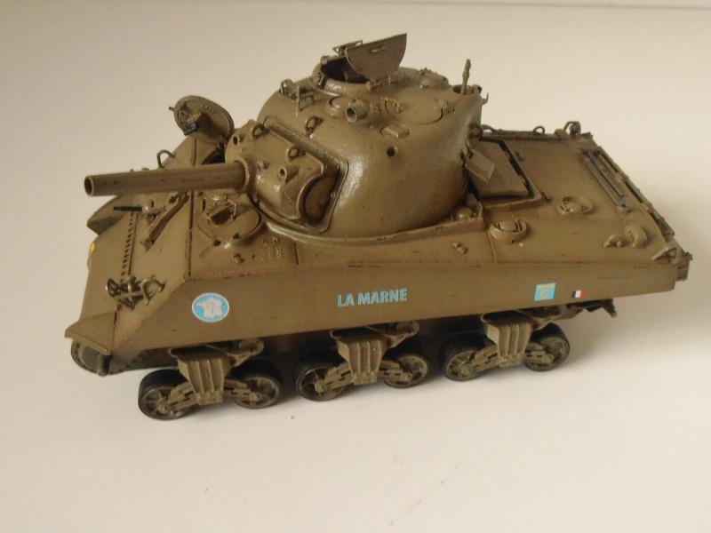 "Sherman M4 105mm "" La Marne "" ( Tamiya et conversion ? au 1/35eme ) Pb260812"