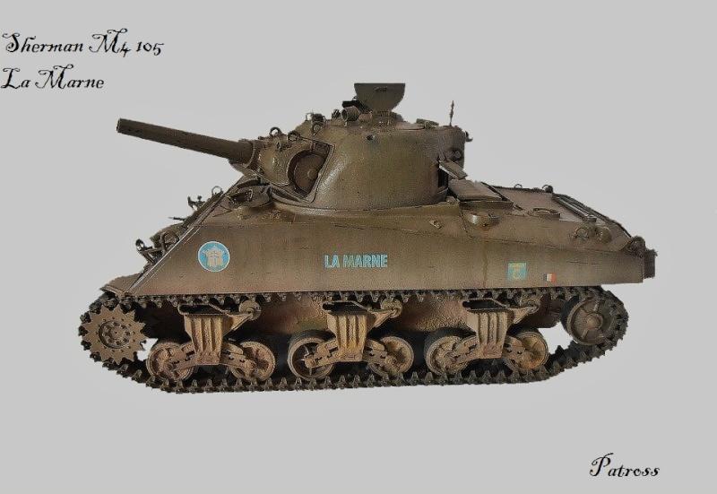 "Sherman M4 105 mm "" La Marne "" 2 eme DB Pb291028"