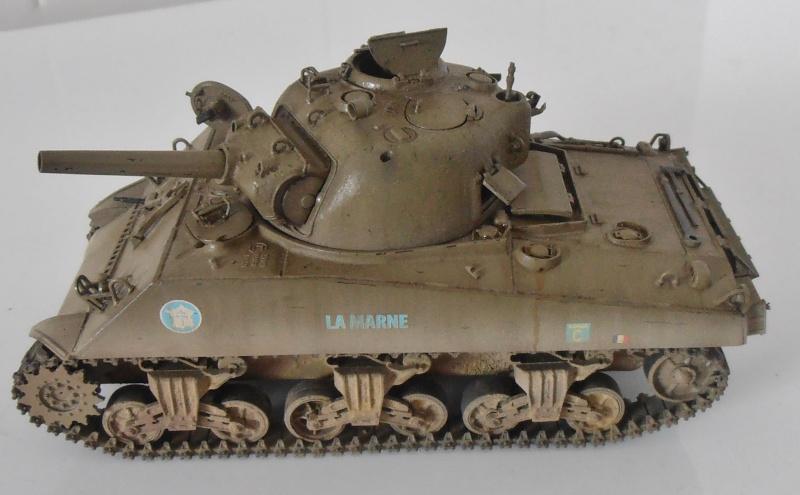 "Sherman M4 105 mm "" La Marne "" 2 eme DB Pb291029"