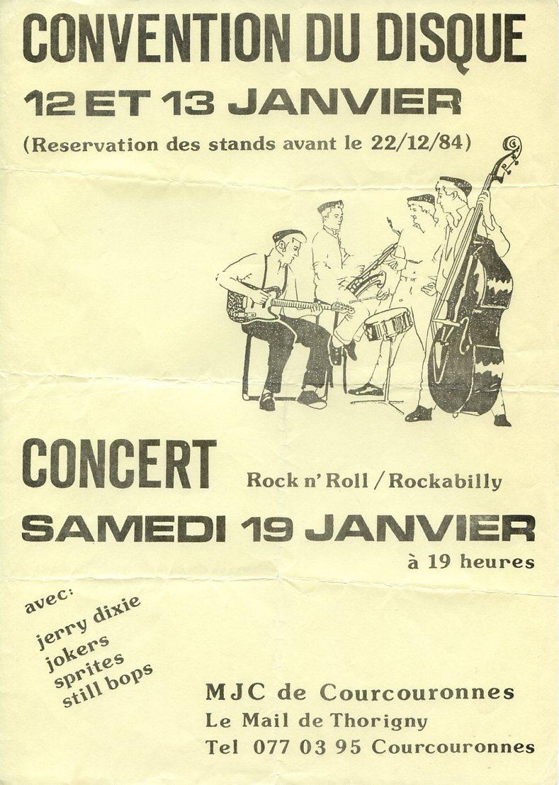 Concert de Courcouronne 19 Janvier 85 Affich14