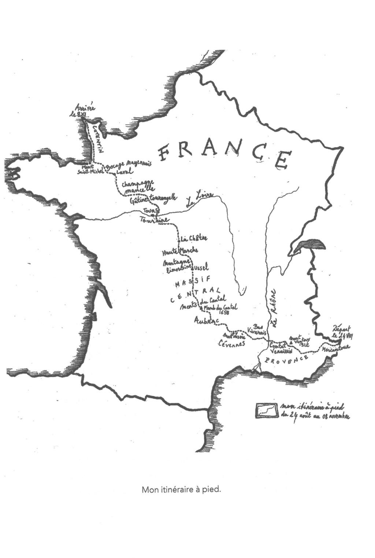 Traversée de France, dans les pas de Sylvain TESSON - Reco Itiner10