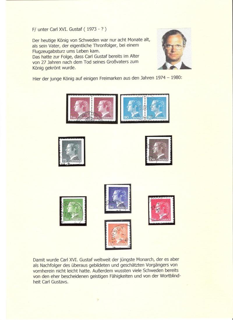 Nordische Königshäuser im Spiegel der Briefmarke 01711