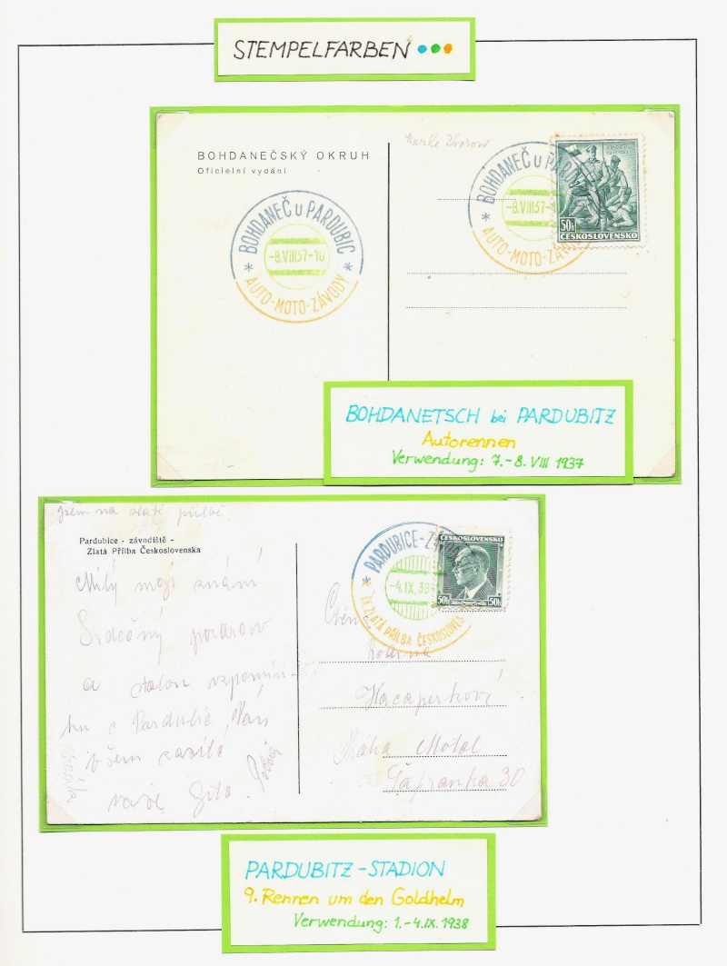 Manche mögen´s bunt - Sonderstempel der Tschechoslowakei Bunt1210