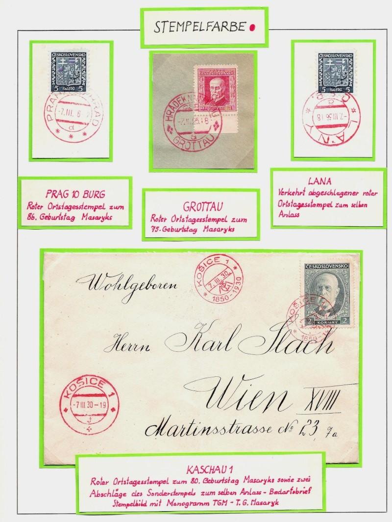 Manche mögen´s bunt - Sonderstempel der Tschechoslowakei Bunt310