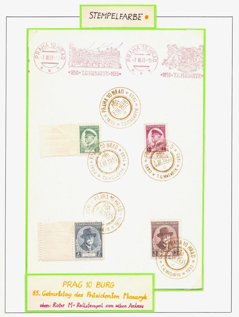 Manche mögen´s bunt - Sonderstempel der Tschechoslowakei Bunt510