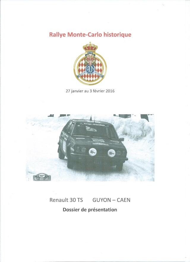 Rallye Monte Carlo Historique 2016 - Benoît/Stéphane 00113