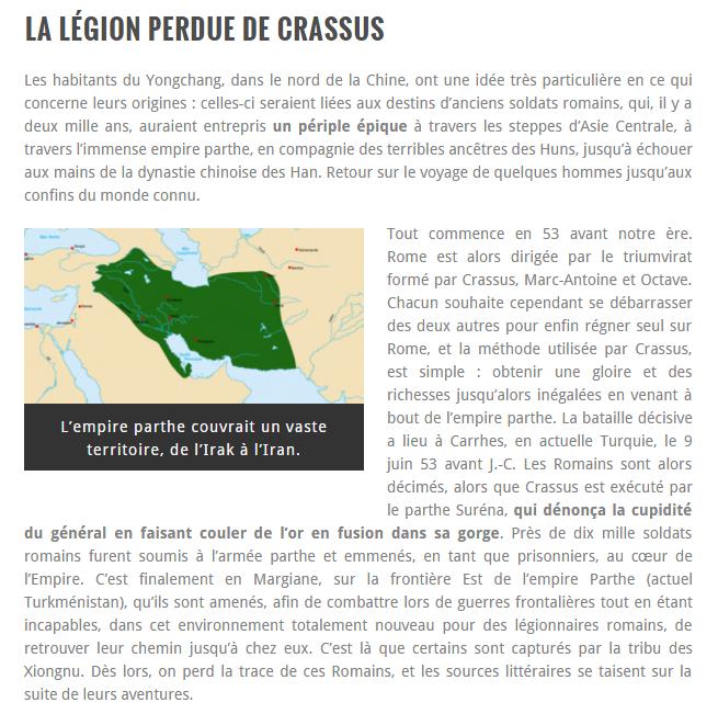 La legion perdu de Crassus 110