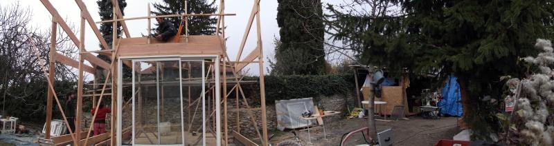 Ossature bois pour toit à une pente Dscf0111