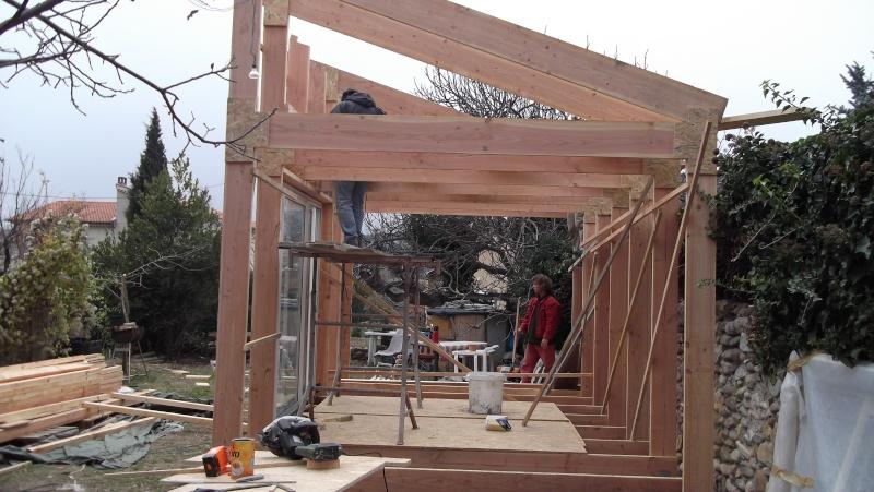 Ossature bois pour toit à une pente Dscf0112