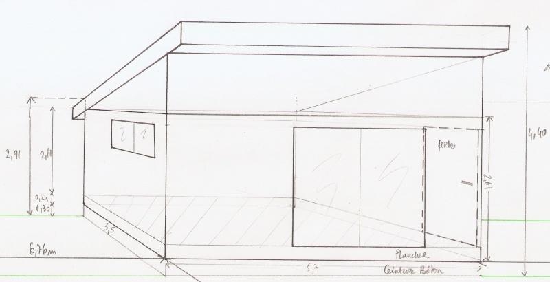 Ossature bois pour toit à une pente Plan_e12