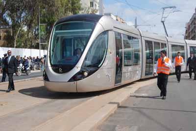 Transports CFM, Gares et Affiches du Maroc Tramwa10