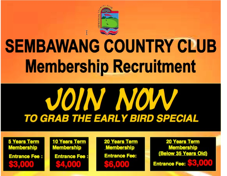Golf courses compensation and Golf membership prices up up Sembaw10