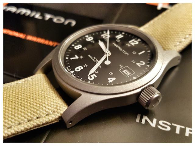 Hamilton khaki officer mechanical noir 20151117