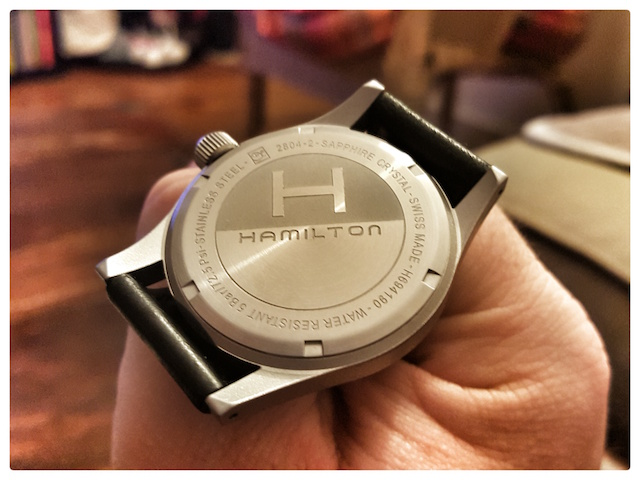 Hamilton khaki officer mechanical noir 20151118