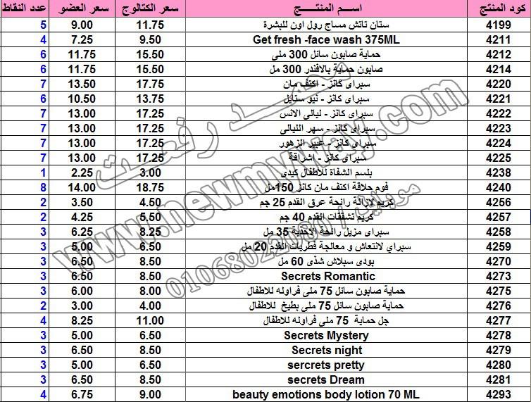 حصريا .. قائمة أسعار المنتجات في كتالوج شهر فبراير 2016  بسعر الكتالوج ... بسعر العضويه ... عدد النقاط 10_cop12