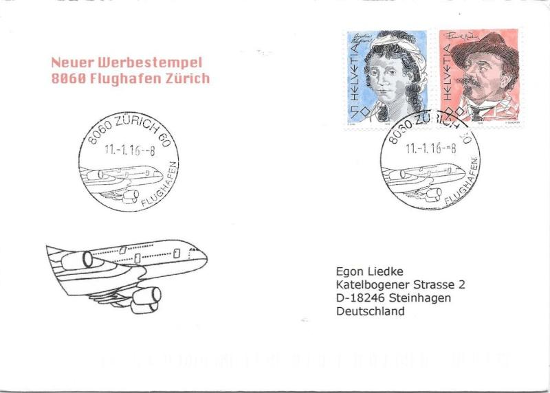 Neuer Werbedatumstempel Flughafen Zürich 00311
