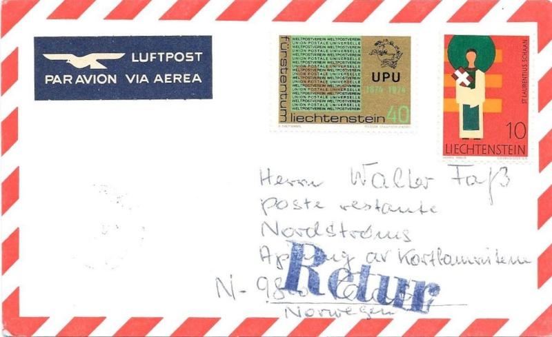 Ich benötige Hilfe zu ein Luftpost Beleg 1974_012