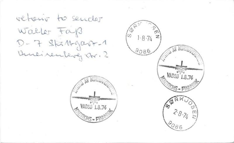 Ich benötige Hilfe zu ein Luftpost Beleg 1974_013