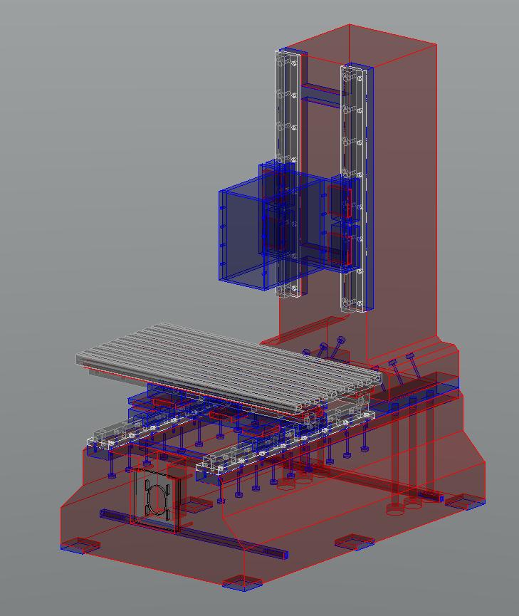 Fraiseuse verticale numérique structure béton Frv32-10