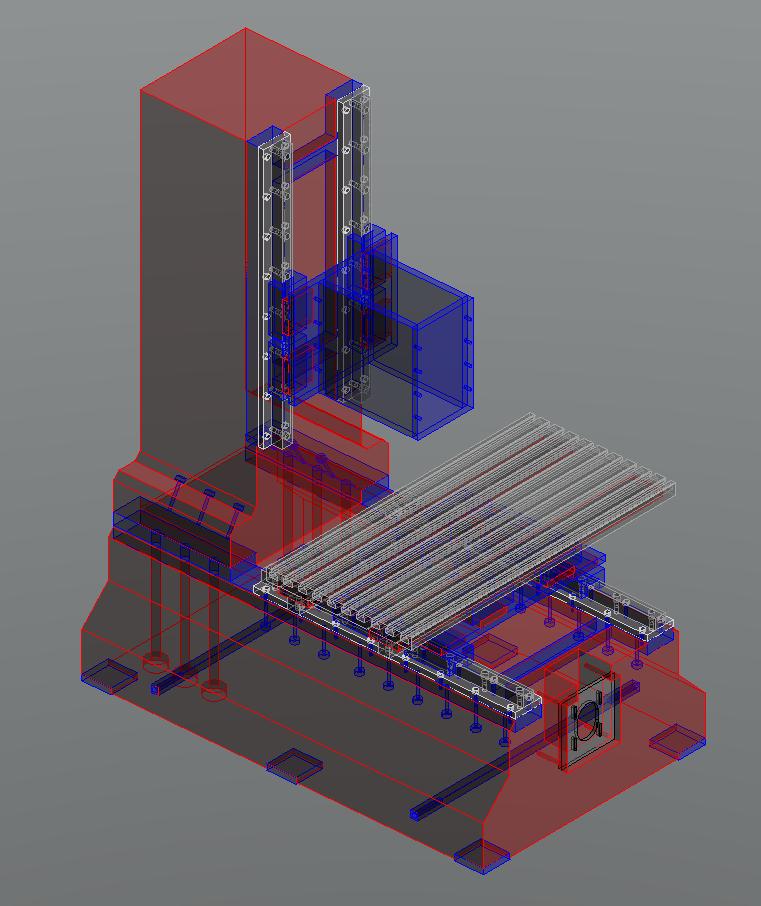 Fraiseuse verticale numérique structure béton Frv32-11