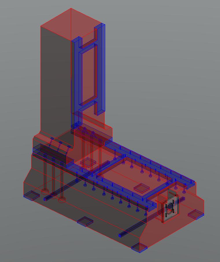 Fraiseuse verticale numérique structure béton Frv32-12