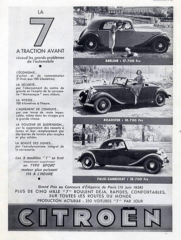 """La """"7"""" - LA VOITURE QUE TOUT LE MONDE ATTENDAIT... 1934_210"""