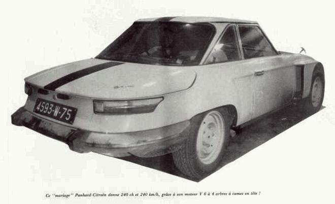 """Citroën de la D""""S"""" à la """"S""""M - TENTATIVE D'INVENTAIRE des PROTOTYPES  Panhar10"""