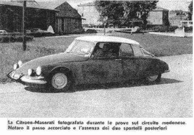 """Citroën de la D""""S"""" à la """"S""""M - TENTATIVE D'INVENTAIRE des PROTOTYPES  Proto611"""