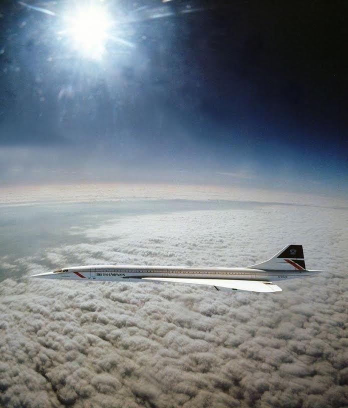 Une photo unique de Concorde en vol  Concor10