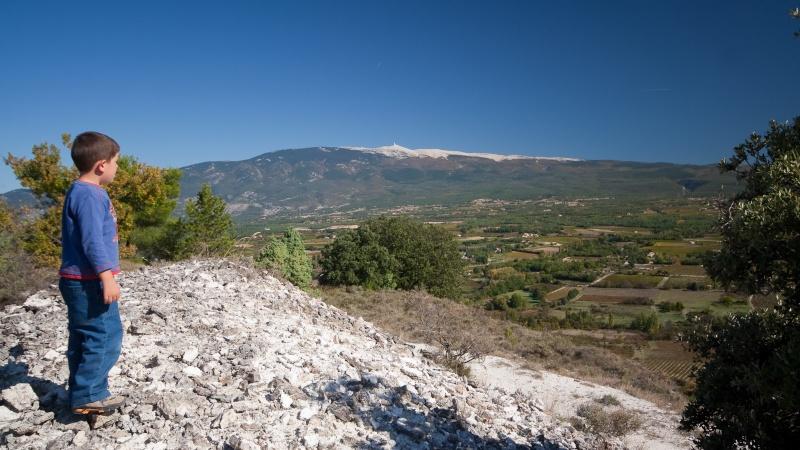 Vu de loin, Au pied du Ventoux, Vignes, Pathfinder, les Alpes / 5 photos 20091010