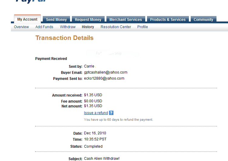 First Payment Paypro11