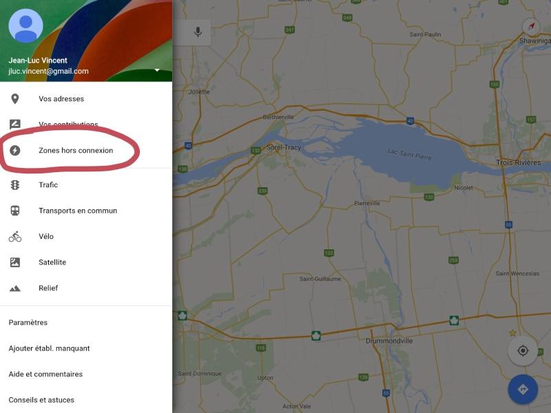 Navigation hors connexion avec Google Maps Image16