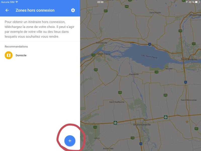 Navigation hors connexion avec Google Maps Image17