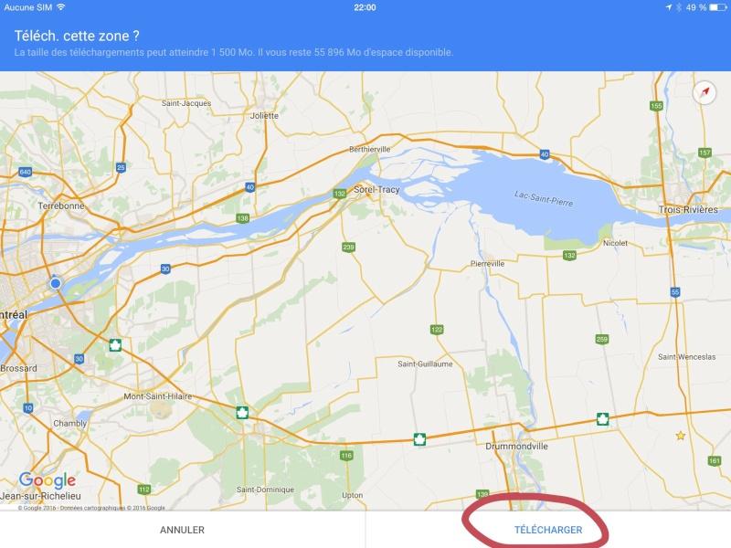 Navigation hors connexion avec Google Maps Image21