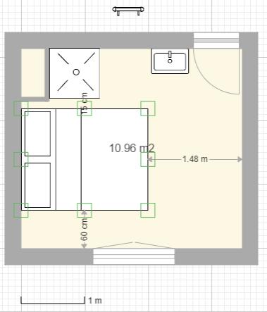 Aménager une salle d'eau dans une petite chambre Captur10