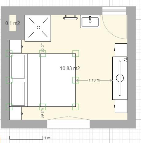 Aménager une salle d'eau dans une petite chambre Captur12