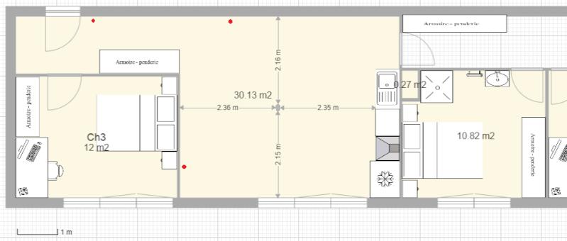 Conseils aménagement petit salon avec salon cuisine américaine Captur22