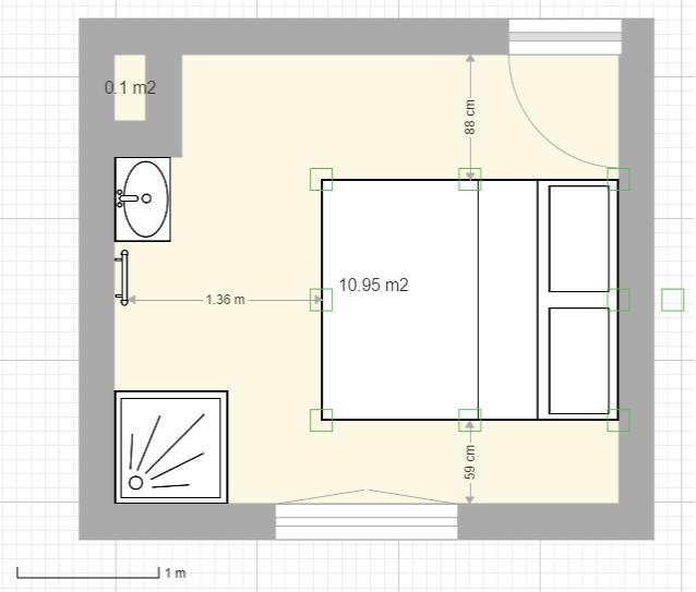 Aménager une salle d'eau dans une petite chambre Douche11