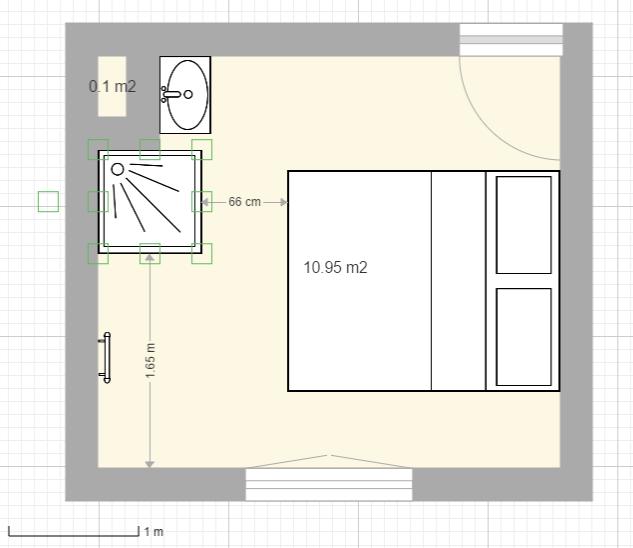 Aménager une salle d'eau dans une petite chambre Douche12