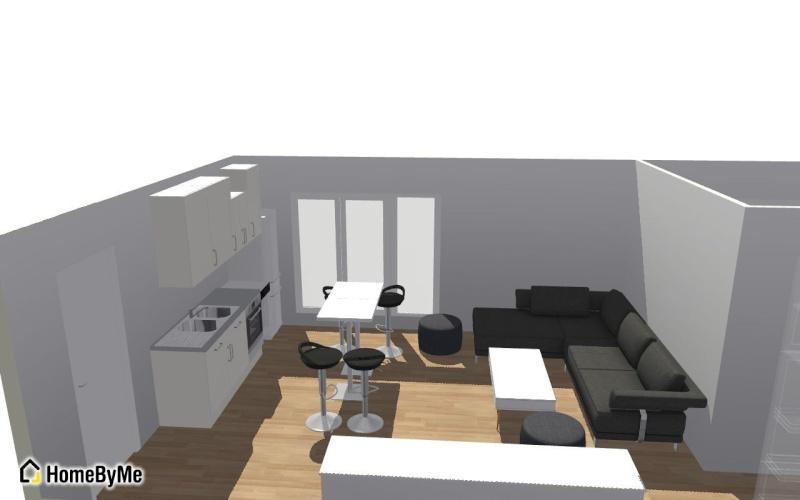 Conseils aménagement petit salon avec salon cuisine américaine Salon_10