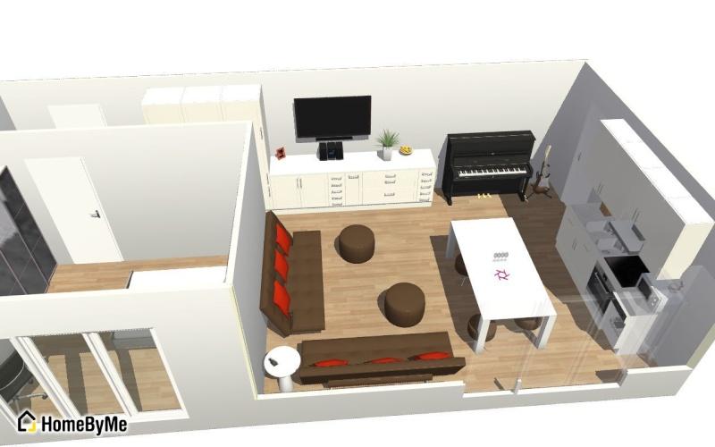 Conseils aménagement petit salon avec salon cuisine américaine Salon_12