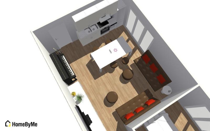Conseils aménagement petit salon avec salon cuisine américaine Salon_13