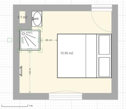 Aménager une salle d\'eau dans une petite chambre