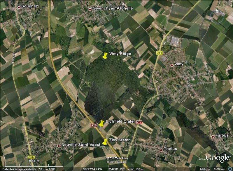 """Vestiges de la """"guerre des mines"""" (Première Guerre Mondiale) visibles dans Google Earth - Page 2 Entonn10"""