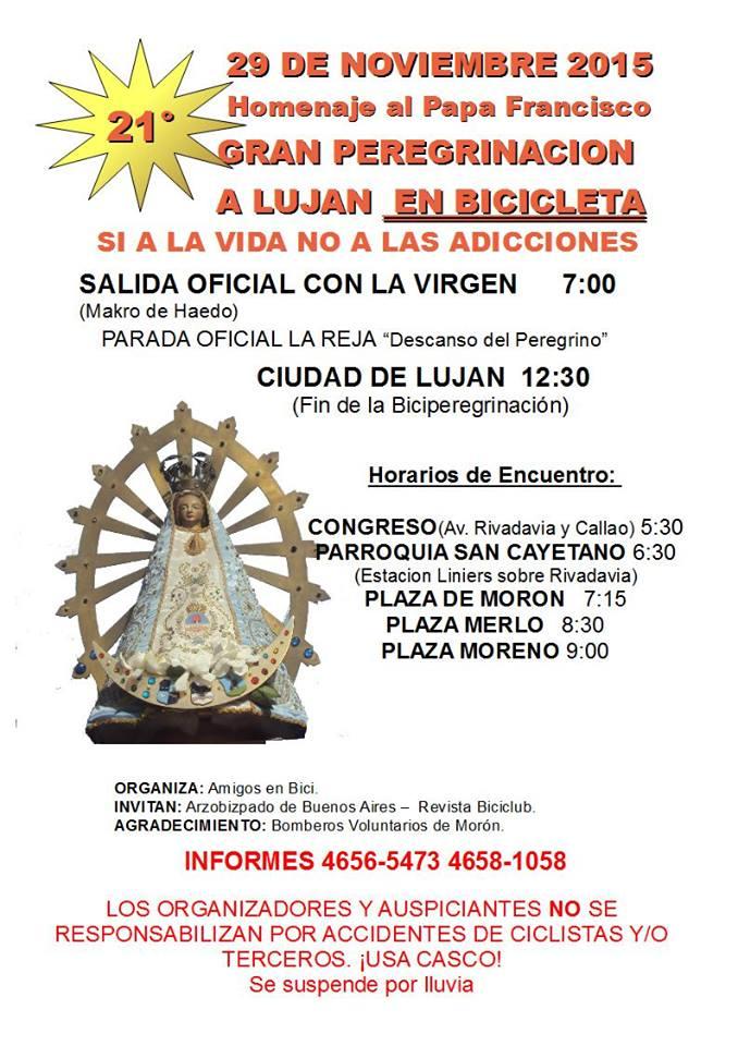 Las plegas vamos a la Peregrinación a Lujan 12106711
