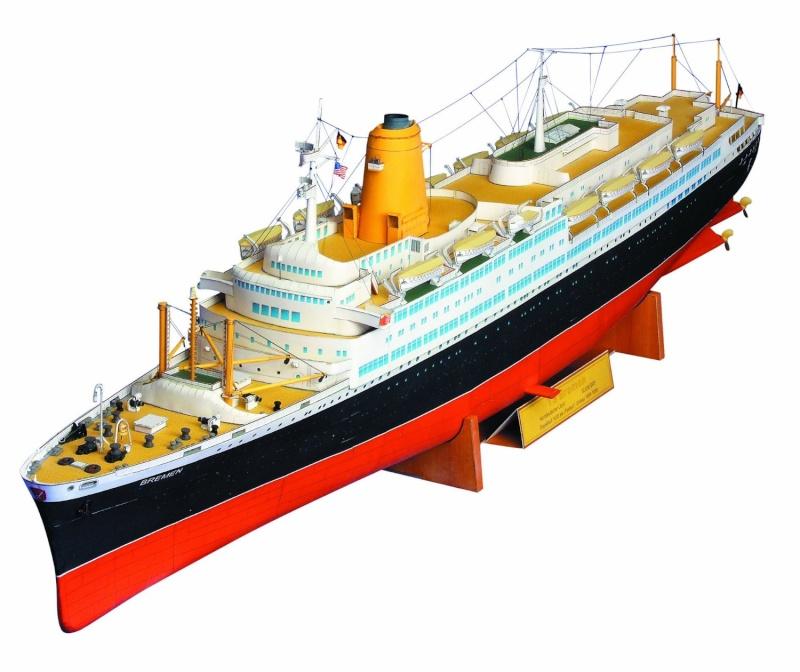 TS Bremen V - Restaurationsbericht zu einem alten Modellschiff in 1/200 81mvpu10